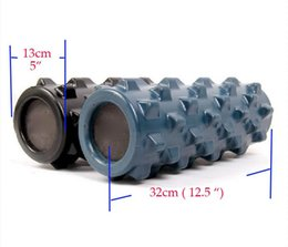 Wholesale Stick Spikes - Wholesale-High quality solid Spike Yoga stick foam roller massage fitness column 10 colors Factory Direct marketing 33*13cm