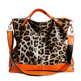 Wholesale Leopard Design Handbags - Wholesale- 2015 special design leopard genuine leather lady handbag women celebrity famous crossbody bag high quality shoulder bag tote