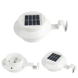 Wholesale Solar Fence Gutter Light Led - Solar 3LED Outdoor Light Fence Gutter Roof Wall Lamp Solar Automatic Light IP44 for Garden Yard DHL Free Shipping