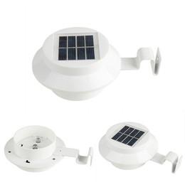 luz de la cerca del canal solar Rebajas Solar 3LED Lámpara de pared de techo de valla de luz exterior Luz solar automática IP44 para Garden Yard DHL Envío gratis