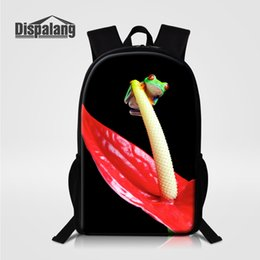 Wholesale Mochila Zoo - Dispalang 16 Inch Larger Backpacks For Middle School Mochila Zoo Animal Polypedatid Lizard Students Schoolbags Rucksack Bagpacks Male Bolsas