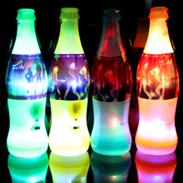 Wholesale Hat World Cup - Wholesale- 15pcs lot Wholesale Lightup toys Beer Bottle LED Flashing World Cup Whistle Party Cheer Supplies Special Plastic Whistling