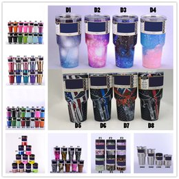 Wholesale Branded Name - 2017 12 20 30oz Tumblers Stainless Steel Name Brand Cups Double Wall Bilayer Vacuum Insulated Cups Travel Vehicle Beer Best Selling Mugs