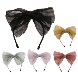 Wholesale Headbands For Dolls - New Bands for 1 6 BJD SD LUTS Dolls Cute Bowknot Headband Alice Band Dolls Accessories 5 Colors Fashion Hairband Girl Gift Toys