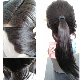 Wholesale 24 Inch Lace Human Wig - Long straight human hair 8~26 inches Peruvian full lace wigs for black women with baby hair