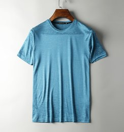 Wholesale Nice Shirts Cotton - men casual cool fashion cute tops handsome nice smooth extra soft luxury shirts designer t shirt~natural viscose blended fabric