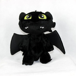 Wholesale Toothless Plush Stuffed Animal - Children Plush Toys How to Train Your Dragon Kids Stuffed Toys Toothless Cartoon Plush Dools For Child Height 20CM 30CM 10Pcs Lot K329