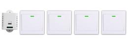 funkrelais Rabatt Großhandels-AC85V 110V 120V 220V 250V 1CH Fernschalter-Empfänger-Wand-Übermittler Drahtloser Hauptschalter 315MHZ funkgesteuerte Schalter-Relais