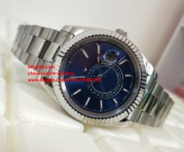 Wholesale Mens Sub Watch - Luxury High Quality Watch 42mm 326934 m326934-0003 Sky Dweller Sub Dial Working Stainless Steel Mechanical Automatic Mens Watch Watches
