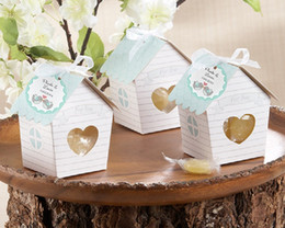 Wholesale Bird Candy Box - NEW Spring Bird House Candy Box with Matching Tag Wedding Favor