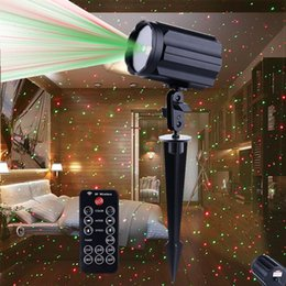 Wholesale Professional Outdoor Christmas Lights - Moving Outdoor Laser Christmas Projector Light Waterproof Star Red & Green LED Projector Spotlights for Garden House Yard Patio Landscape