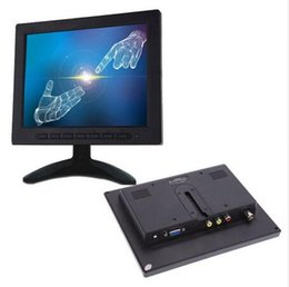 Wholesale Input Av Tft Lcd Monitor - 8 inch TFT LCD Color Video Monitor Screen VGA BNC AV Input for PC CCTV Security Remote and Stand Rotating Screen