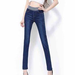 Wholesale Jeans Pant Fit Women - Wholesale- New Fashion Plus Size Jeans Women Pencil Pants High Waist Jeans Sexy Slim Elastic Skinny Pants Trousers Fit Lady Jeans