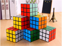 Wholesale Rubix Cubes - Creative third-order smooth rubik's Rubics Cube Rubix Cube Magic Cube Rubic Square Mind Game Puzzle for Kids (Color: Multicolor) 5.7x5.7x5.7
