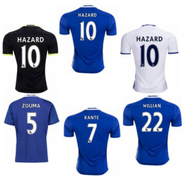 Wholesale Chelsea Jersey Shorts - CHELSEA JERSEY HAZARD FABREGAS OSCAR DIEGO COSTA KANTE PEDRO thai quality soccer jerseys thailand quality survetement football jerseys kits