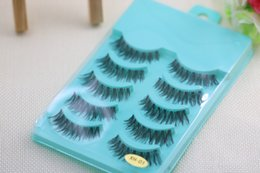 Wholesale Hand Accessories For Women - Cross Messy False Eyelash 5 Pairs Natural Long Thick Fake Eyelashes Makeup Tools Accessories for Woman Lady