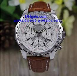 Роскошные часы бесплатная коробка мужские часы кварцевые хронограф белый spuer большой 55 мм сущность Британии limited мужские часы номер кожаный ремешок wr от
