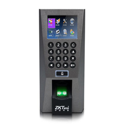 Wholesale Door Access Control Card - TCP IP 125KHz RFID Card & Fingerprint Access Control & Time Attendance F18 Fingerprint Door Entry System 2.4 inch color screen