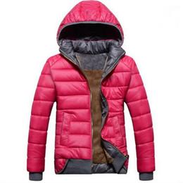 Wholesale Down Coat Xl - new female models sport coat plus velvet down jacket women's winter warm hooded jacket Removable Hot