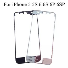 Wholesale Mid Frame Bezel - 50PCS Front Bezel with hot glue Middle Frame for iPhone 7 7 plus 6s 6 Plus 5s 5c Mid Frame LCD tOUCH Screen