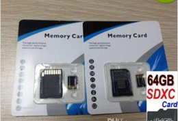 Wholesale Sd Card 64g Micro Memory - 64GB SDXC MicroSD Card Class 10 Generic No Name brand C10 64g Micro SDXC TF MicroSD microSDXC Memory Card Free SD Adapter + Blister Package