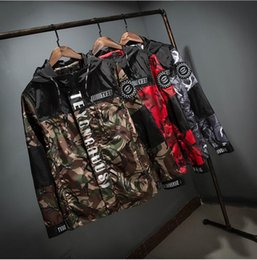 Wholesale Japanese Styled Jackets - New Fashion for young Mens Spring Japanese styles Clothing 3m Reflective camo Male Camouflage Jacket Coat pluze size 3XL