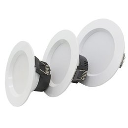 Wholesale 26 Led - 1PC Recessed Led Downlights 3W 5W 7W LED Ceiling Downlight Round Kitchen Panel Ceiling Spot Light Home Indoor Lighting AC85-26