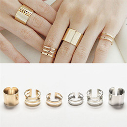 Wholesale Women Finger Tip Ring - 3 Pcs Set Trendy Rings Fashion Top Of Finger Over The Midi Tip Finger Above The Knuckle Open Ring For Women Gold Sliver Plated