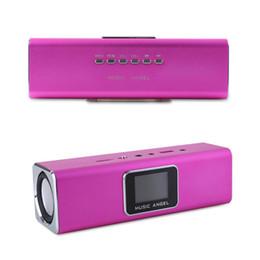 Wholesale Original Mini Sd Card - Original 100% New MUSIC ANGEL JH-MAUK5 Portable Speakers LED Screen Digital Speaker Active Audio FM Radio USB SD TF