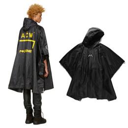 Wholesale Women Raincoat - 2018 ACW Women Men Raincoat Jacket Hiphop Oversized Raincoat windbreaker waterproof