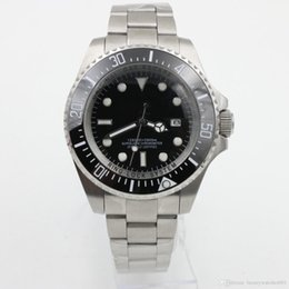 Wholesale Sea Dweller 44mm - Luxury Men's SEA-DWELLER DEEP Ceramic Bezel 44mm Stanless Steel Clasp 116660 Automatic High Quality Business Casual mens Watches