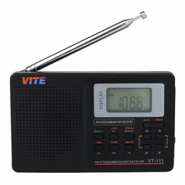 Wholesale World Time Alarm Clock - Wholesale-3 pcs Full Band Radio FM Stereo MW  SW DSP TV Sound World Band Receiver with Timing Alarm Clock Portable Radio Recorder F9201A