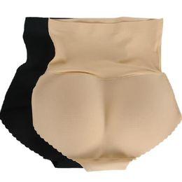 Wholesale Calcinha Plus Size - Sexy Women Plus Size Panties Ass Underwear High Waist Calcinha Seamless Bottom Abundant Buttocks Pants Female Breathable Briefs