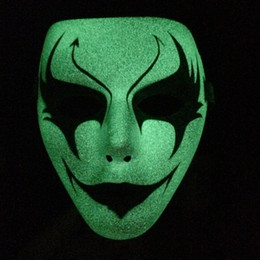Wholesale Naruto Back - high quality naruto real light in the dark shuffle dance Hip-Pop mask Street Step Dance Party performance show death kitty mask