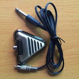 Argentina Al por mayor-Un pedal de interruptor de pie de tatuaje para Power Machine Set Supply - Bronce TFS24-C cheap c machines Suministro