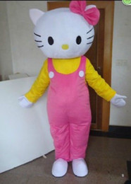 Wholesale Mascot Kitty - Cartoon Hello Kitty Cat Mascot Costume Fancy Birthday Party Dress Halloween Carnivals Costumes With High Quality For Adult