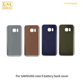 Wholesale Galaxy Note Case 5pcs - 5pcs lot For Samsung Galaxy Note 5 Black White Gold Battery Cover Back Housing Full Back Cover Door Rear Case Replacement Cellphone Parts