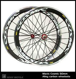 Canada Nouveau! 700C peinture cosmique 50mm pneu jante route vélo 3K carbone vélo roues avec roues de carbone alliage surface de frein supplier paint surface Offre