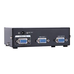 2 порта VGA splitter 1 ПК до 2 порта VGA SVGA монитор TV Box 1шт Для 2 мониторов от Поставщики vga разделитель