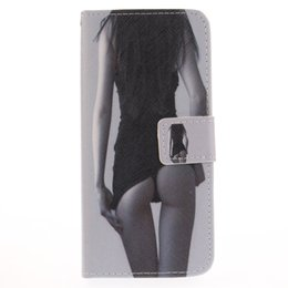 Wholesale Galaxy S4 Girl Cases - Painted sexy girl flip stand PU leather case for Samsung galaxy S3 S4 S5 S6 edge S7 edge S8 S8 plus with card slot wallet cell phone cases