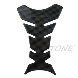 Wholesale Tank Protector Decals - Wholesale- 3D Carbon Fiber Motorcycle Oil Gas Fuel Tank Pad Protector Sticker Decal Fit