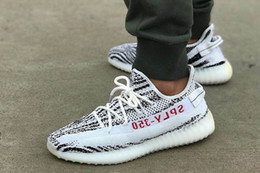 Wholesale Volleyball Leather - Kanye West Boost 350 SPLY V2 BY9612 Core Black Red BY1604 Limited New CP9654 Zebra Running Shoes With Box