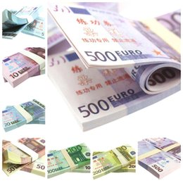 Wholesale Fake Factory - EURO 5 10 20 50 100 200 500 for props and Education bank staff training paper fake money copy money children gift factory direct