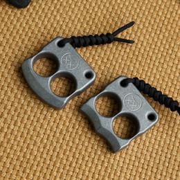 Deutschland Andy Frankart DFK-Doppelfingerring TC4 Titanium Self Defense Schlagdolche Außenschnalle Survival-Tasche EDC Knuck Knuckles Multi-Tools Versorgung