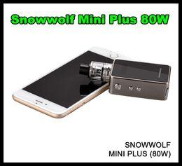 Snowwolf Mini Plus 80W Starter Kit с аутентичным Snow wolf TC Box Mod встроенный 3000mah SUb Ohm Tank 100% подлинный VS Sigelei mod kit от Поставщики танк снежного волка