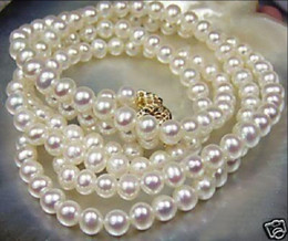 "Wholesale Beautiful Culture - NEW Beautiful! 8-9mm White Akoya Cultured Pearl Necklace 25"" AYP"