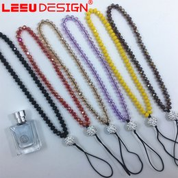 Wholesale Neck Bling Lanyard Crystal Rhinestone - Wholesale 100pcs Bling Lanyard Crystal Rhinestone in neck with clasp ID Badge Holder for Mobile phone