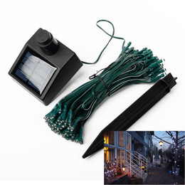 Wholesale Party Energy - 100 LED String Lights Solar Power Energy-saving Christmas Tree Lights Christmas Decoration Holiday Party Garden Lights