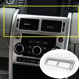 Wholesale Stainless Vent Covers - Stainless Console Air Vent Outlet Cover For Land Rover Discovery Sport 2015-2016 1pcs free shipping