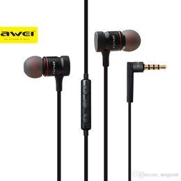 Wholesale Ecouteur Mp3 - Awei ES-70TY In-Ear Earphone Metal Headphones Stereo Headset Heavy Bass Sound Ecouteur Fone De Ouvido Auriculares Audifonos 1pcs